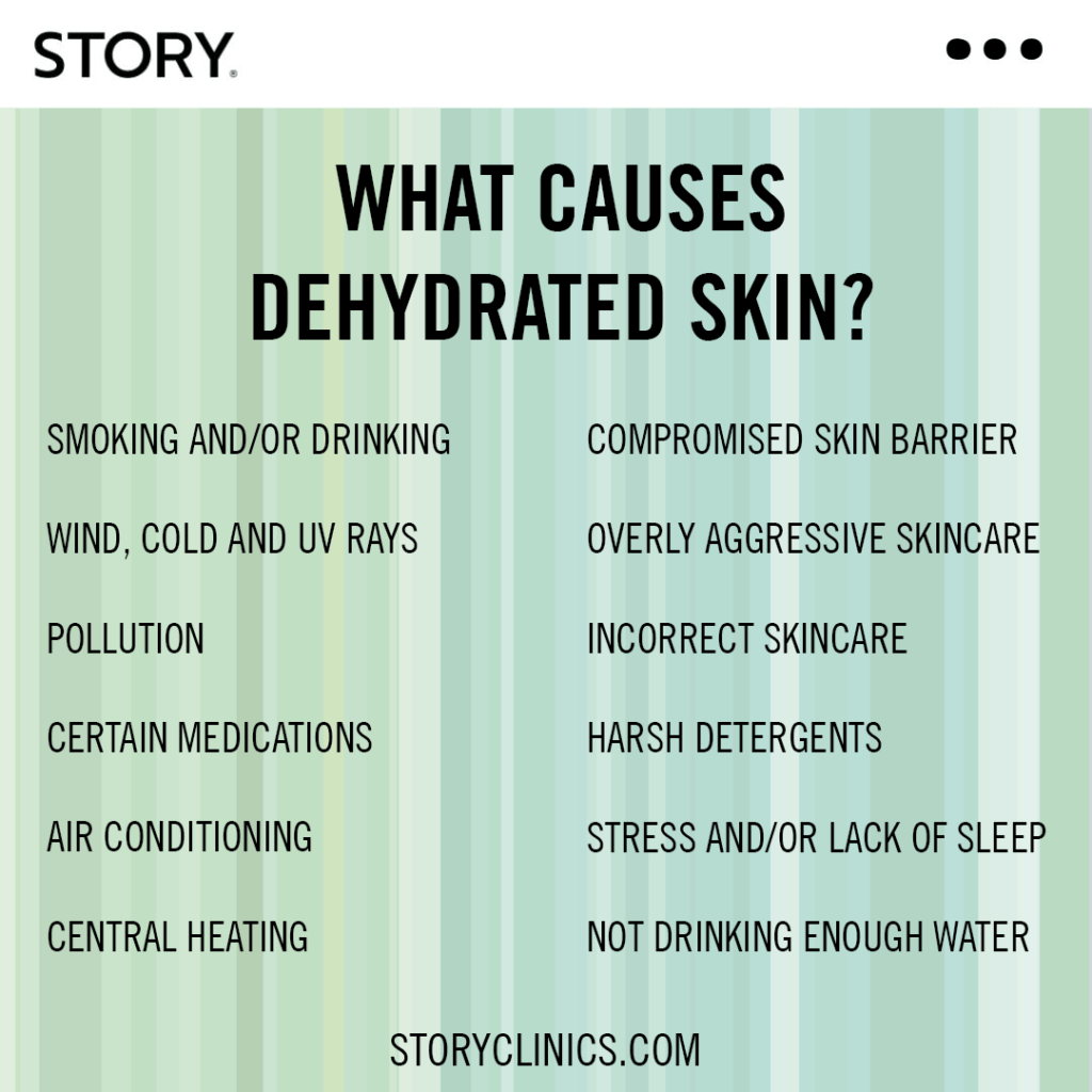 what causes dehydrated skin story clinics marylebone southwell skincare hydrafacial